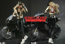 """1/6 Motorcycle Leather Jacket Pants Set For 12"""" PHICEN HotToys Female Figure USA"""