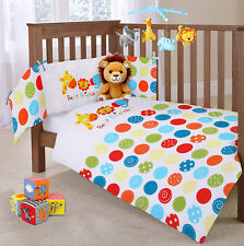 Baby Nursery Cot 2Pc Quilt & Bumper Bedding Bale Set Jungle animals