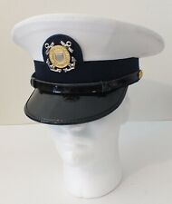 Vintage Us Coast Guard Enlisted Visor Hat Cap Size 7-1/8 for Dress Uniform