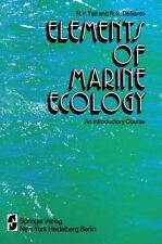 Elements of Marine Ecology : An Introductory Course by R. V. Tait (2011,...