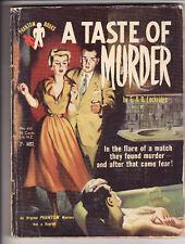 F. & R. LOCKRIDGE - A TASTE OF MURDER    pulp crime