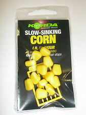 Korda Slow Sinking Corn Fake Food 12pk + hairstops ALL FLAVOURS Fishing tackle