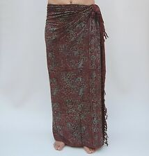 Sarong (SAL501P) Premium Qualität in Übergröße Pareo Sari Wandbehang Wickelrock