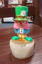 RON LEE WORLD OF CLOWNS 1992 CCG6 #C92 CLOWN WITH LARGE GREEN HAT