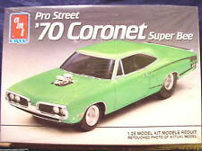 Amt-Ertl Pro Street '70 1970 Coronet Super Bee Muscle Drag Car Model Kit # 6140