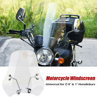 "Universal Windschild Windschutzscheibe 7/8"" & 1"" Lenker Motorrad Motorradscheibe"