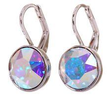 Swarovski Elements Crystal Aurore Bella Mini Pierced Earrings Rhodium New 7173u