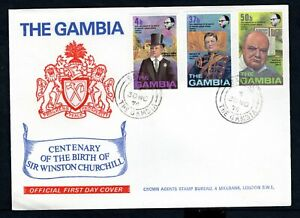 The Gambia - 1974 Churchill Centenary First Day Cover