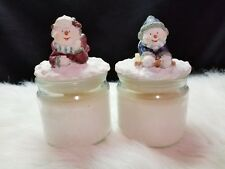 (Set of 2) Candle-Lite Holiday Snow Candle Vanilla Scented