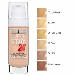 Maybelline Super Stay 24H Longwear Fresh Look Liquid Foundation - Assorted