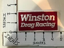 """EMBROIDERED NHRA WINSTON DRAG RACING JACKET PATCH 2"""" X 5"""""""