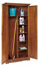 Armadio porta scope 2ante arte povera legno massello armadietto -mobile classico