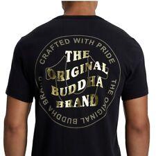 True Religion Men's Wavy Buddha Brand Gold Foil Metallic Tee T-Shirt in Black