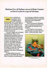 PUBLICITE ADVERTISING 064  1979  MADAME GRES  parfum CABOCHARD