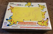 (Damaged Box) New Nintendo 3ds XL System Yellow Pikachu Edition Handheld Console