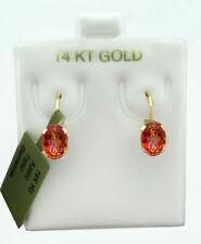 AZOTIC TOPAZ 1.48 Cts DANGLE EARRINGS 14K GOLD * Free Certificate Appraisal *