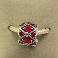 Chamilia Jewelry Shimmering Stones Red Swavorski Crystal Charm Silver Bead