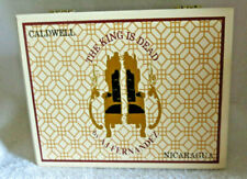 CALDWELL THE KING IS DEAD ROBUSTO WOOD CIGAR BOX - BEAUTIFUL!