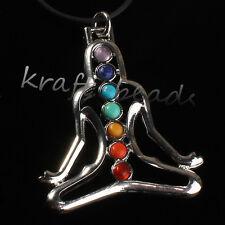 Inner Peace Beads Buddha Yoga Meditation Healing Point Chakra Pendant Jewelry