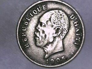 HAITI 1905 5 Centimes  Uncirculated