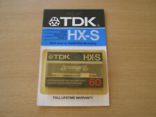 TDK HX-S 60 HIGH BIAS TAPE