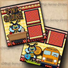 School Smart As Can Bee 2 premade scrapbook pages paper piecing layout Digiscrap