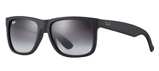 Authentic RAY-BAN Justin Matte Black Sunglasses Grey Lens RB4165 601/8G 54mm