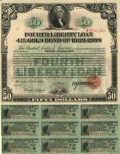 50 Dollar Fourth Liberty Loan Gold Bond of 1933-1938