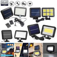 56 100 LED Solar Sensor Lights Light Motion Detection Security Garden Flood Lamp