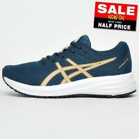 Asics Patriot 12 Women's Running Shoes Fitness Gym Workout Trainers Navy