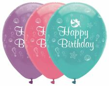 6 x Mermaid Shine Latex Balloons Girls Birthday Party Decoration Helium Children
