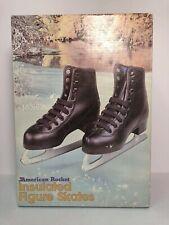 Vintage American Rocket Figure Skates Style 517 Boys Black Insulated Brand New