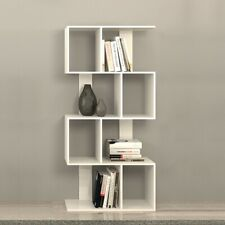 White 10 Cube Cabinet Tall Bookshelf Bookcase Storage Book Shelf Display Unit UK