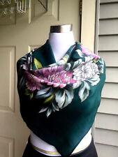 Vtg Russian Multi-Color 100% Silk Batik SCARF/ SHAWL LIMITED EDITION