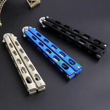 Practice BALISONG METAL BUTTERFLY Steel Trainer Dull Un-sharpened Knife Blue USA