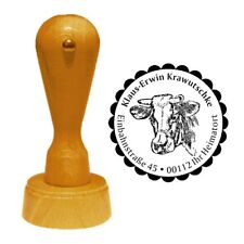 Stempel « KUH KOPF » Adressenstempel Motiv Tier Bauernhof Bauer Rind Vieh Land