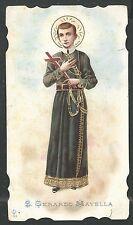 Holy card antique de San Gerardo Mayela estampa santino image pieuse