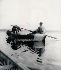 LEON c. 1935 - Pêcheurs à l'Epervier sur l'Etang Landes - Div 2127