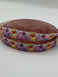 "pooh bear Grosgrain-Ribbon  22mm/7/8"" width  Print-by-the-Metre"
