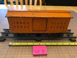 Lionel Lines Train Standard Gauge 98237 CM & St P Orange Box Car w/2 Doors Lot B