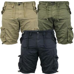 Men Cargo Shorts Camo Combat Utility Hiking Above Knee Short Cotton Brave Soul