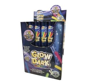 "GRAFIX™ 8"" GLOW STICKS WITH CONNECTORS (PACK OF 15) SENSORY GLOW LIGHT FUN"