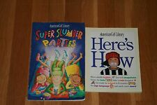 Lot of 2 books American Girl Library Here's How & Super Slumber Parties