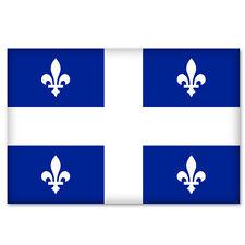"QUEBEC Canada Flag bumper sticker decal 5"" x 3"""