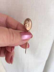Vintage Lapel Pin . Brass . Two inches