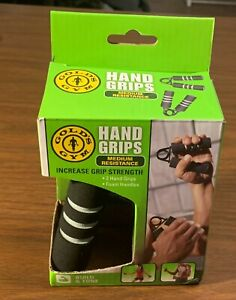 Gold's Gym Exercise Hand Grips - Pair - Medium Resistance - NEW in box-free ship