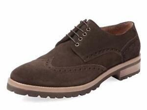 New in Box - $300 Gordon Rush Dark Brown Suede Wingtip Derby Oxford Size 8