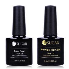 2x 7.5ml Nail No Wipe Base Top Coat Soak Off UV LED Gel Polish Varnish UR SUGAR