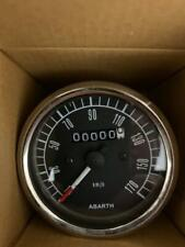 Fiat 500 600 Abarth speedo  New  in black 80mm for Fiat 500 and 600