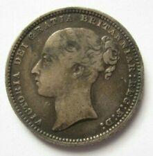 GREAT BRITAIN - Queen Victoria - Silver Shilling - 1872 - Die #80 - KM-734.2